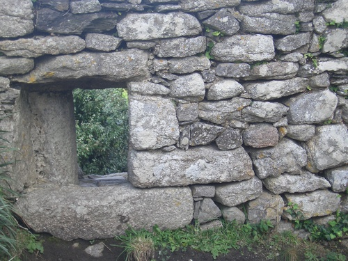 [Picture: Window in old stone wall]