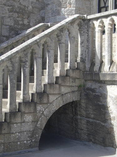 [Picture: Stone steps over arch]