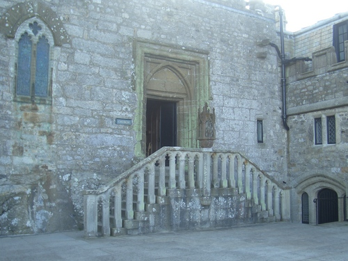 [Picture: Steps up to the chapel]