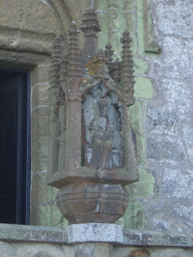 [Picture: Statue outside the church]