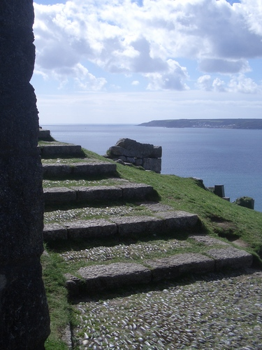 [Picture: Shallow stone steps]