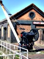 [picture: Vintage dockyard crane]
