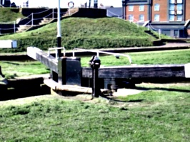 [picture: Canal lock gates]
