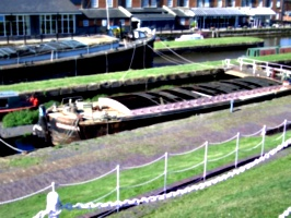 [picture: Longboat in the lock]