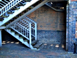 [picture: Metal stairs]