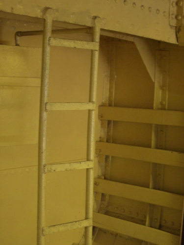 [Picture: Metal ladder in a ship]