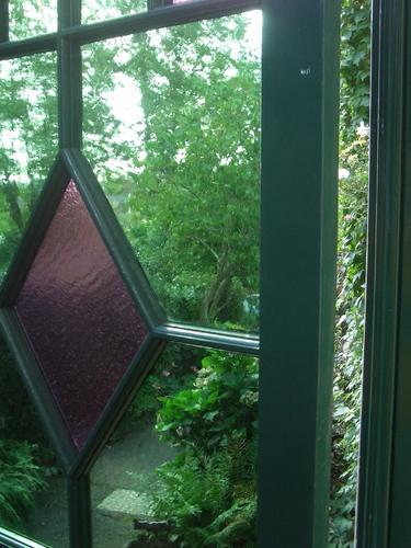[Picture: Doorway into the back garden]
