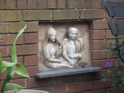 [Picture: bass-relief in the garden 2]