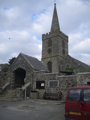 [Picture: St Keverne Church]