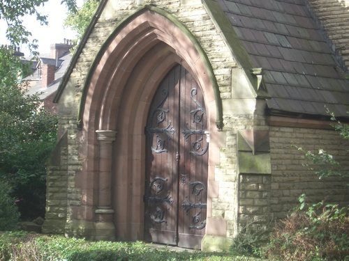 [Picture: Church porch door]
