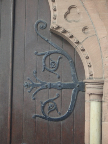 [Picture: Church door hinge]