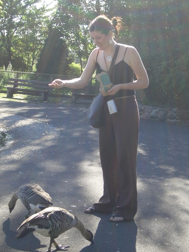 [Picture: Susie enjoyed feeding the ducks]