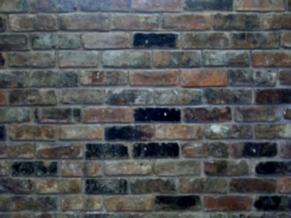 [picture: hand-made brick wall]