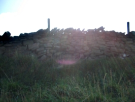 [picture: Dry stone wall with sunlight]