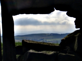 [picture: Through the dry stone wall]