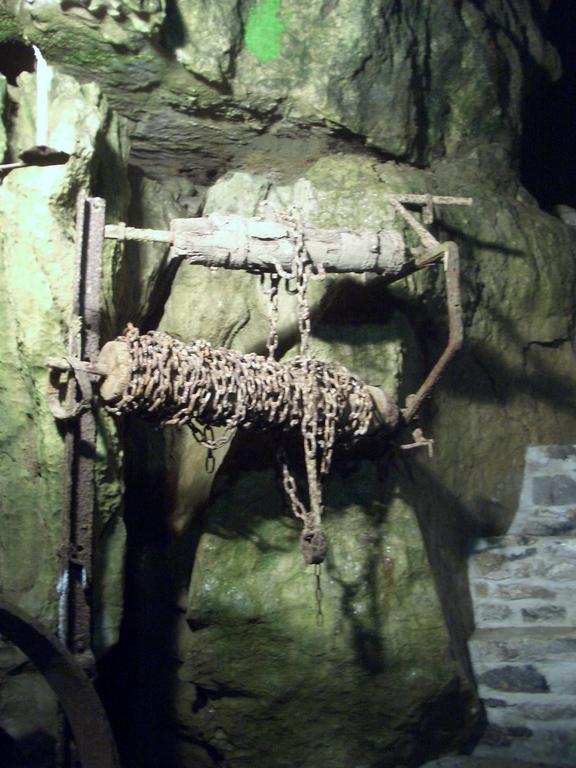 [Picture: Blue John Mine 20: mine chains]