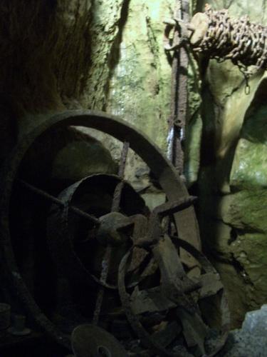 [Picture: Blue John Mine 21: mine chains]