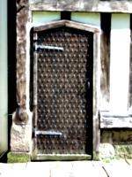 [picture: Ancient studded oak door 2]