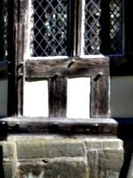 [picture: Tudor woodwork: window (detail)]
