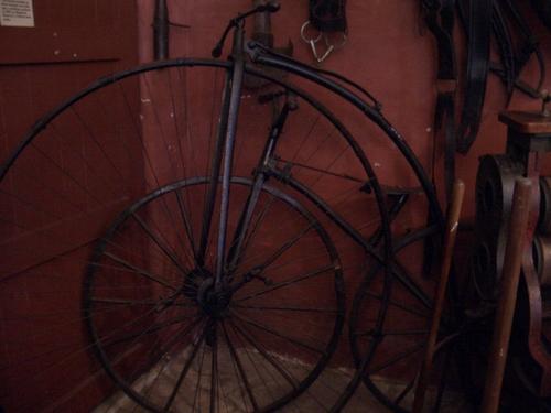 [Picture: Antique bikes]