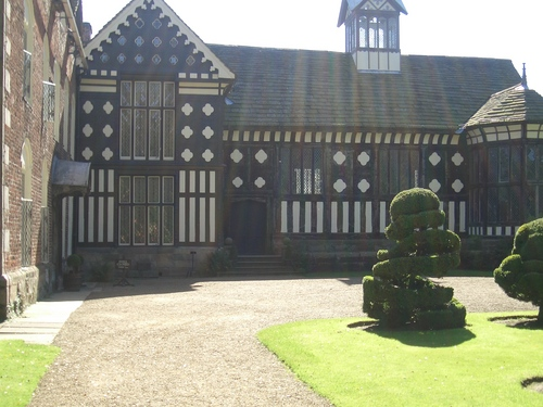 [Picture: Rufford Old Hall: view with lens flares]