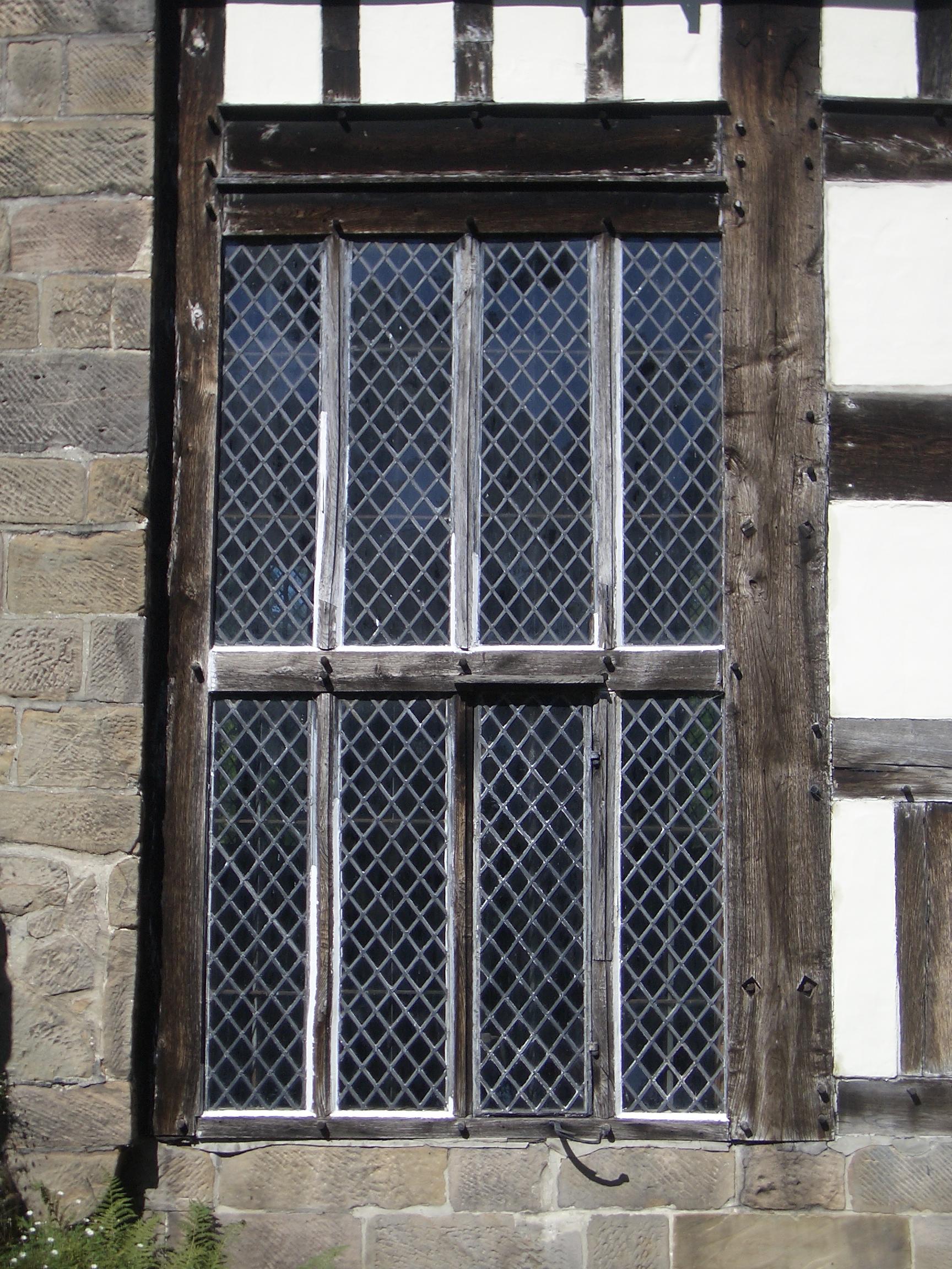 [Picture: Tudor woodwork: window]