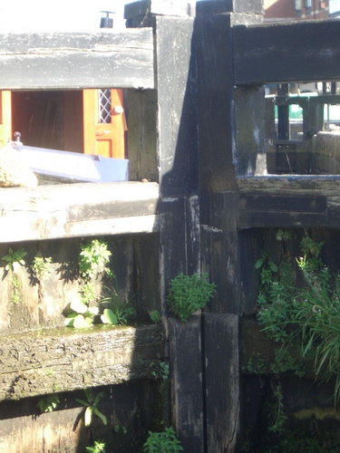 [Picture: Canal lock gates for panorama: 1]
