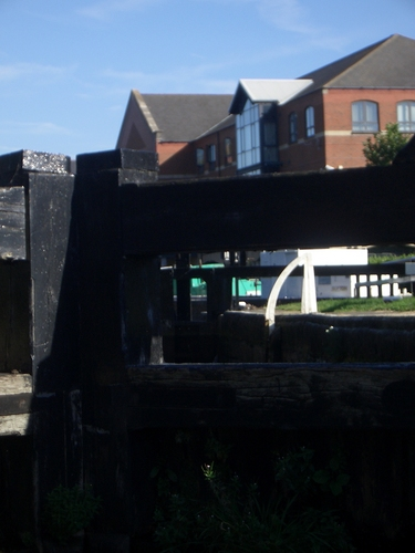 [Picture: Canal lock gates for panorama: 11]