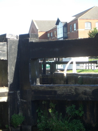 [Picture: Canal lock gates for panorama: 12]