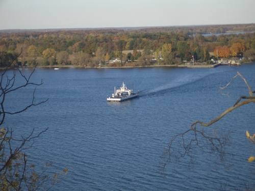 [Picture: Glenora Ferry with Autumn Trees: 1]
