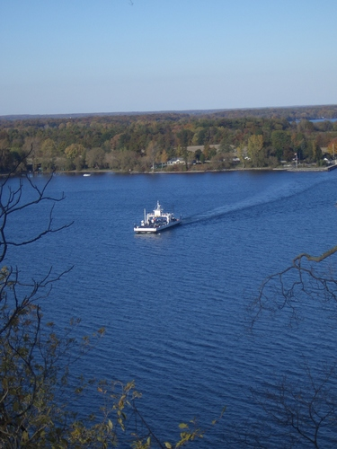 [Picture: Glenora Ferry with Autumn Trees: 2]