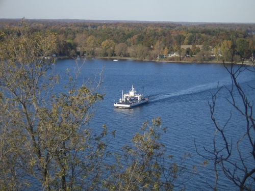 [Picture: Glenora Ferry with Autumn Trees: 3]
