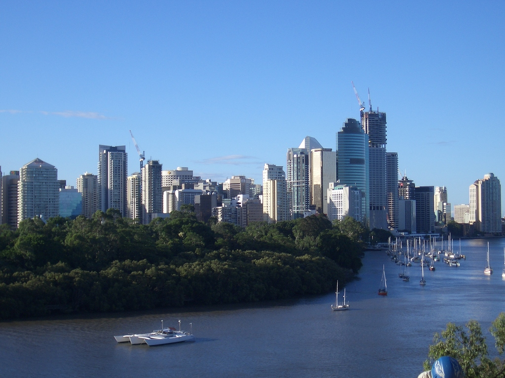 [Picture: Downtown Brisbane from a distance]