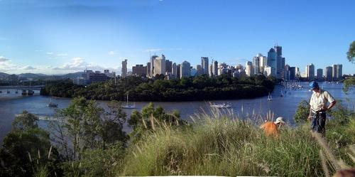 [Picture: Brisbane island on the river]