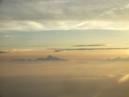 [picture: Sunrise from the 'plane]