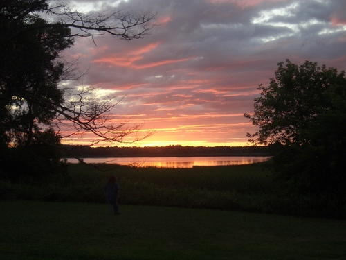[Picture: Sunset in Cherry Valley 4, With Larry]