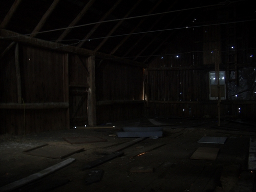 [Picture: Inside a barn]