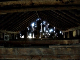[Picture: Inside an old barn]