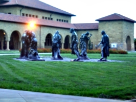 [picture: Statues in courtyard]