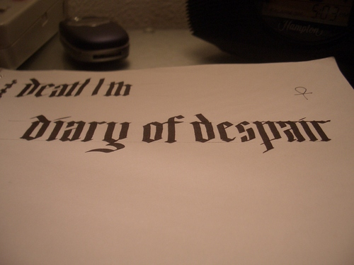 [Picture: Diary of Despair]