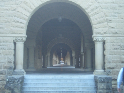[Picture: Receding cloister]
