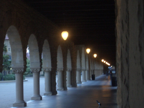 [Picture: Blurry cloisters]