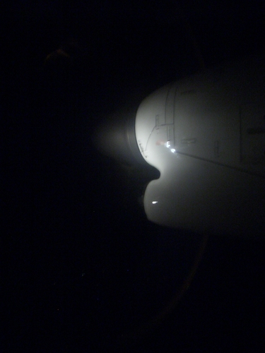 [Picture: Plane engine at night 2]