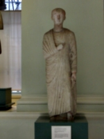 [picture: Limestone Statue of a Young Man]