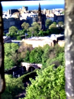 [picture: Edinburgh from the castle]