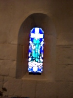 [picture: Stained glass window in the chapel of St. Margaret 2]