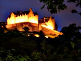 [picture: Edinburgh Castle at night]