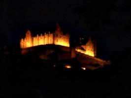 [picture: Edinburgh Castle at night 2]