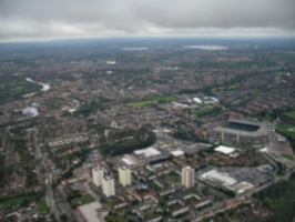 [picture: Wembly Stadium from the air]