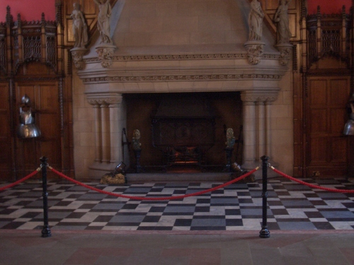 [Picture: Fireplace in the Great Hall of Edinburgh Castle]